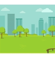 City Park with a Lawn and Trees vector image vector image