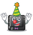 clown f12 button installed on cartoon computer vector image
