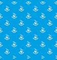 cogwheel d printing pattern seamless blue vector image vector image