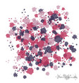 colorful spots and sprays on a white used to vector image vector image