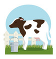 cow farm animal icon vector image
