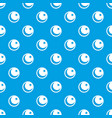 crescent and star pattern seamless blue vector image vector image