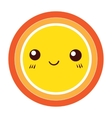 Cute Colorful Sun icon design element vector image vector image