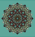 decorative retro styled mandala design vector image vector image