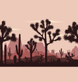 desert seamless pattern with joshua trees opuntia vector image vector image