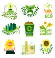ecological restoration emblems vector image vector image