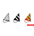 festive icon 3 types isolated sign vector image vector image