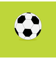 Football soccer ball icon on green grass back vector image vector image