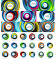 Fresh business waves and swirls design abstract