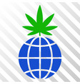 global cannabis sprout eps icon vector image