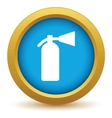 Gold fire extinguisher icon vector image vector image