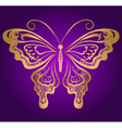 Golden butterfly vector image vector image