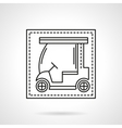 Golf car flat line icon vector image vector image