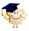 graduating bread on white background vector image vector image