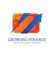 growing finance flat gradient icon vector image