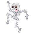 Halloween Skeleton jumping with dance on isolated vector image vector image