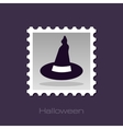Halloween Witch hat stamp vector image vector image