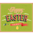 Happy Easter typographic design vector image vector image