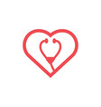 heart icon design template isolated vector image vector image