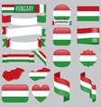 Hungary flags vector image vector image