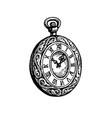 ink sketch pocket watch vector image vector image