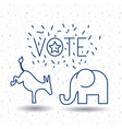 isolated donkey and elephant of vote concept vector image