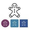 line icon gingerbread man vector image