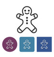 line icon of gingerbread man vector image vector image
