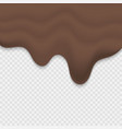 melted chocolate vector image vector image