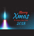 merry christmas candle flame vector image