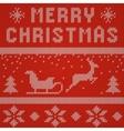 Merry Christmas Scandinavian style seamless vector image vector image