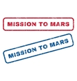 Mission To Mars Rubber Stamps vector image vector image