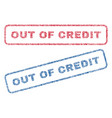out of credit textile stamps vector image vector image