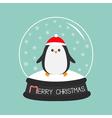 Penguin in red santa hat Cute cartoon character