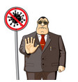 president politician or official bans the vector image vector image