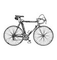 racing bicycle vector image vector image
