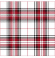 red black and white tartan plaid scottish pattern vector image vector image