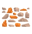 Rocks and stones vector image