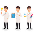 scientist man handsome cartoon character vector image