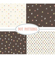 Set of seamless cute retro patterns vector image vector image