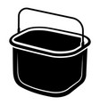 small bucket icon simple style vector image vector image