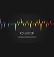 sound equalizer pattern music digital wave voice vector image