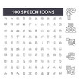 speech line icons signs set outline vector image vector image