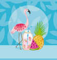 summer and birds vector image vector image