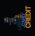the bad credit card that may do good secured vector image vector image