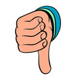 thumb down gesture icon cartoon vector image