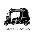 tuktuk motorbike asian taxi sketch for your vector image vector image
