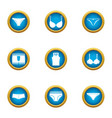 underpants icons set flat style vector image vector image