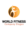 World Fitness Design vector image