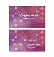 business card purple vector image